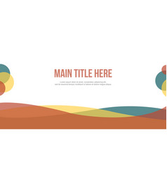 Collection abstract header website modern vector