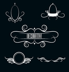 Collection of white decorative border frames vector image