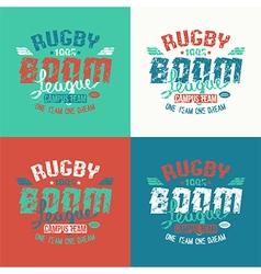 College rugby team emblem vector