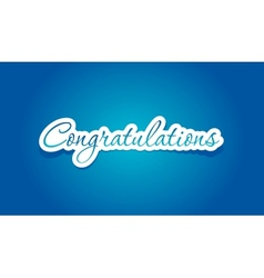 Congratulations lettering vector