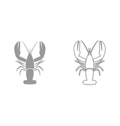 Craw fish it is black icon vector