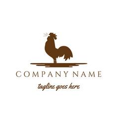 Crow rooster cock chicken silhouette logo design vector