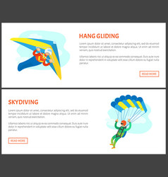 dangerous activity jumping with parachute vector image
