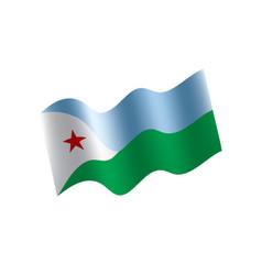 djibouti flag vector image