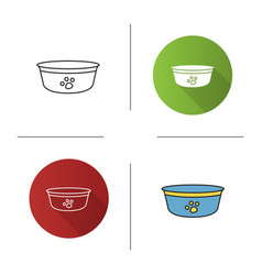 dogs bowl icon vector image