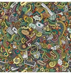 doodles internet social media seamless pattern vector image