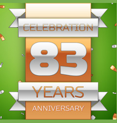 eighty three years anniversary celebration design vector image