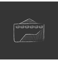 Factory Drawn in chalk icon vector
