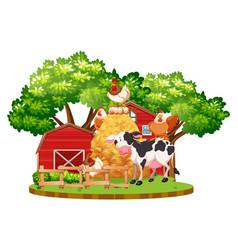 farm animals on the farm vector image