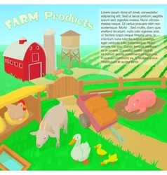 Farm products concept vector