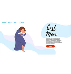 Flat banner online courses on infant care vector