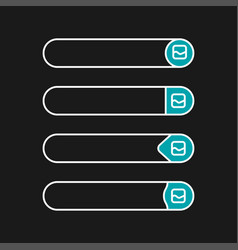 Flat web design elements buttons icons templates vector