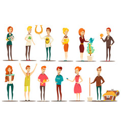 Fortunate soul characters collection vector