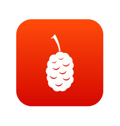 Fruit of mulberry icon digital red vector