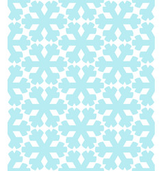 geometrical snowflakes seamless pattern winter vector image
