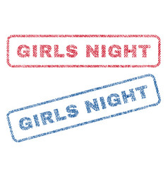 Girls night textile stamps vector