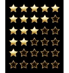 Golden Rating Stars vector