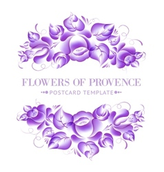 Gzhel style floral garland vector