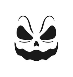 Halloween smiling face icon scary smile vector