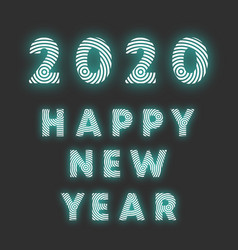 happy new year 2020 background radial line design vector image