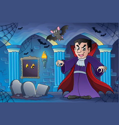 Haunted castle interior theme 3 vector