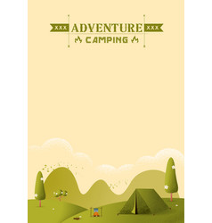 Hiking and camping texture style vector