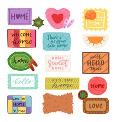 home mat welcome doormat in front of house vector image