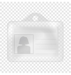 Id card mockup realistic style vector