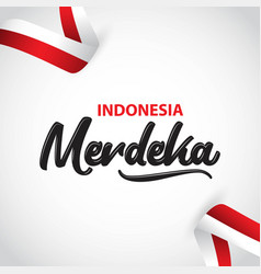 Indonesia merdeka template design vector