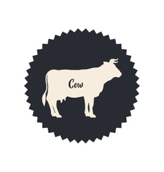 Isolated cow livestock animal design vector