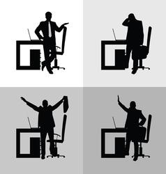 Man set in office vector
