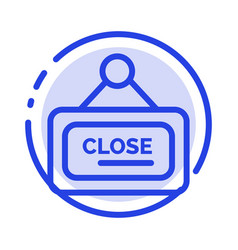 Marketing board sign close blue dotted line line vector
