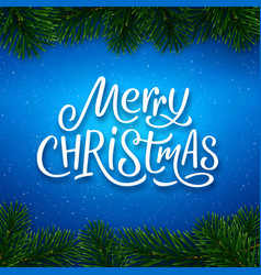 merry christmas calligraphy text banner vector image