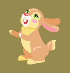 milk chocolate bunny sweetness holiday mascot vector image vector image
