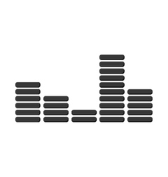 Music soundwave icon vector