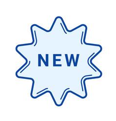 new sticker line icon vector image