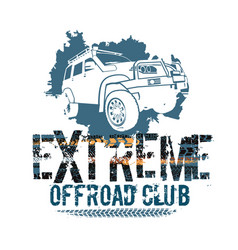 off-road tire logotype vector image