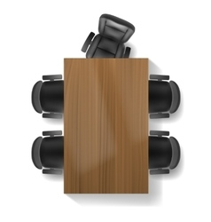 Office chair and table top view vector