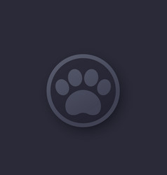 Paw icon logo for app vector