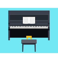Piano Icon Concept Symbol Flat Design on Stylish vector image