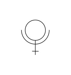 pluto line icon vector image