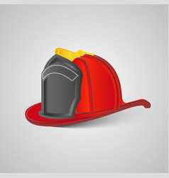 real firefighter helmet vector image