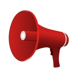 Red cartoon megaphone vector image