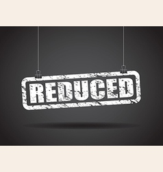 reduced white vector image