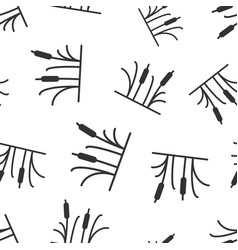 reeds grass icon seamless pattern background vector image
