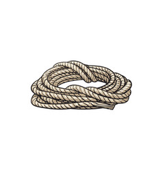 Roll of ship rope cartoon vector