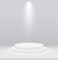 round white podium pedestal or platform vector image