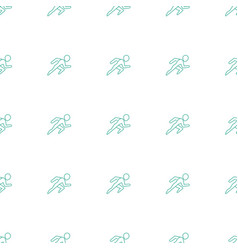 Running icon pattern seamless white background vector