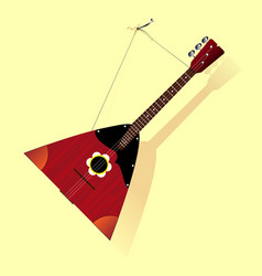 russian balalaika on the wall vector image