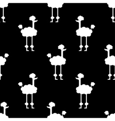 Seamless pattern A dog on a black background vector image